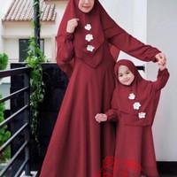 la baju couple kapel cople gamis plus kerudung fashion ibu dan anak