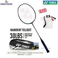 Full Set Raket Badminton Yonex Nanoray 70 Light 5U G5