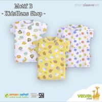Kaos Oblong Velvet Junior grosir 3 size L baju rumah anak bayi - Motif B