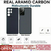 Real Aramid Carbon Slim Thin Hard Case Samsung Galaxy S21 Ultra