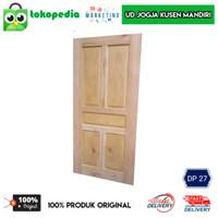 DP27 - Daun Pintu Kayu Mahoni Ukuran 82 x 200cm