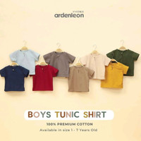 Baju Boys Tunic Shirt Ardenleon - Baju Lebaran SET KELUARGA
