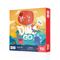 TweedyToys - TOI Papan Permainan Dino Go Game 2 In 1 Dua Sisi