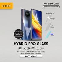UNEED Hybrid Pro Anti Break Screen Protector Poco X3 Pro Full Cover