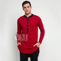 VM Baju Koko Panjang Merah Maroon - Gamis Koko Jumbo - Merah, M