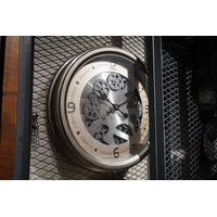 Jam Dinding / Clock Model Metal - Silver - Diameter 50 cm