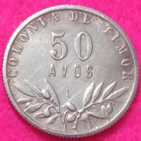 Koin perak 50 Avos Timor Leste thn 1948 (Cukup jarang)