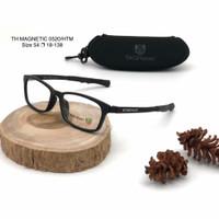 frame kacamata minus anti radiasi tag heuer th0520 magnetic - Hitam