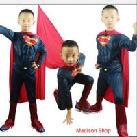 Kostum Anak Superhero Superman Baju Costume Halloween Kado Anak Cowo
