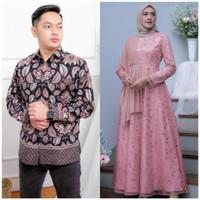 Baju Couple Gamis Lebaran Gamis Muslim Modern Batik Couple Murah Solo