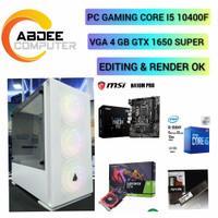 PC GAMING INTEL CORE I5 10400F RAM 16 GB WITH 4 GB GTX 1650 DDR6 SUPER