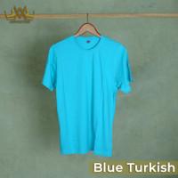 Advictor Kaos Polos Bright Solid Basic Combed Cotton 30s Lengan Pendek - Blue Turkish, S