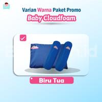 Promo Paket Bantal Terapi Kepala Bayi + Guling Baby Cloudfoam - Biru
