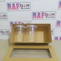 Tempat toples | Kotak Hampers | Gift box | Kotak Parcel | Kotak kado - Putih