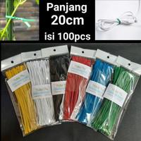 20cm Kabel Ties Twist tie perekat pengikat klip kabel Bingkisan Parcel