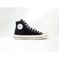 Sepatu Sneakers Kasual Lucky Star AF1 Hi Black Natural