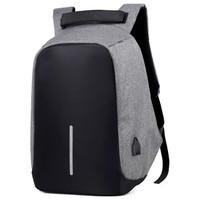 Tas Ransel Laptop Anti Maling dengan USB Charger Port - Gray