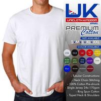Kaos Baju Polos Premium Cotton UK Unicloth Kingdom Apparel 2XL - Putih, XXL