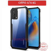 OPPO A74 CASE ARMOR HYBRID HARD COVER BUMPER SOFT TPU CASING CLEAR