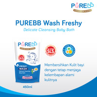 OKE PURE BB Wash 2 IN 1 Refill Sabun + Shampoo Bayi 450 ml