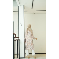Fashion Wanita Muslim Amira Tunik Lengan Panjang Katun Rayon Fit To XL
