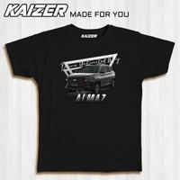KAIZER RH-1454 Kaos Wuling Almaz RS Car Mobil SUV - Hitam Black Car, S