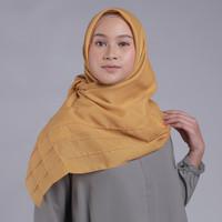 Zoya Pandora Scarf - Hijab Kerudung Segi Empat - Dark Gold