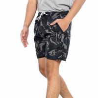 CAMO DARK / Celana Pendek Boxer Pria Loreng / Celana Santai - CAMO DARK, S