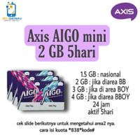 Voucher Data AXIS AIGO MINI 2GB 5HARI