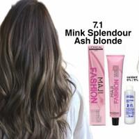 Loreal Majirel 7.1 Ash blonde / pewarna rambut / hair color