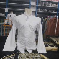 Baju Koko salaf Haibah polos tangan panjang putih BAKHIROH grosir 20pc
