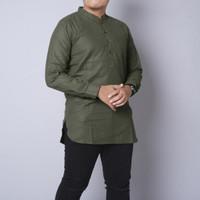 Baju koko pakistan Kurta pakistan kimko trendy baju muslim pria dewasa - Army, M