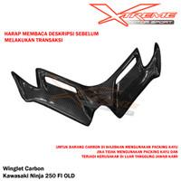 Winglet Carbon Karbon Kawasaki Ninja 250 Fi OLD Plug n Play
