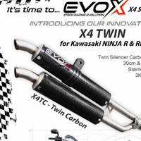 KNALPOT RACING 3TECH EVOX X4 TWIN NINJA R NINJA RR - carbon
