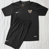 JERSEY bola Baju stelan timnas indonesia olahraga bola futsal - Hitam,