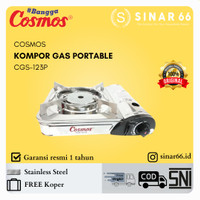 COSMOS KOMPOR GAS PORTABLE TRAVEL 2 IN 1 STAINLESS STEEL CGS 123P