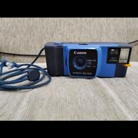 kamera analog film Canon snappy 20 biru blue antik jadul lawas vintage