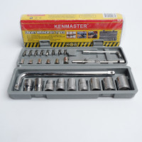 Kunci Sock / Socket / Shock / Sok Wrench 27 pcs Kenmaster Toolkit