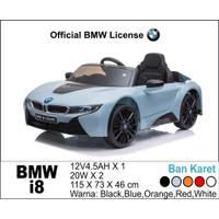 Mainan Anak Mobil Aki Unikid BMW i8 Remote Control Ban Karet Garansi