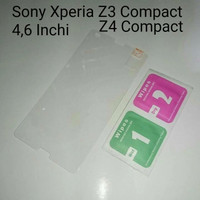 Tempered Glass TG Sony Xperia Z3 Compact - Z4 Compact Anti Gores