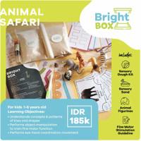 Mainan Sensori - ANIMAL SAFARI - Flashcards Pretend Play 1-6 thn