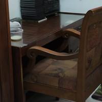 meja kerja kayu jati furniture meubel ruang kerja kantor