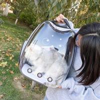 Tas Ransel Anjing Kucing Astronot Black Eyes / Pet Cargo / Pet Carrier