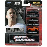 Mainan Diecast Jada Nano Hollywood Fast&Furious 9 Dodge/Jeep/Toyota