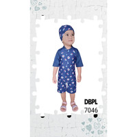 Baju renang baby, bayi free topi limited - Umbrella donker, M