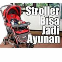 Stroller pliko grande dondolino stroller bayi bisa ayunan rocker