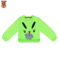 MacBee Sweater Anak Perempuan Rachel Bunny Cute 6 bulan - 12 tahun - Hijau, SIZE 2