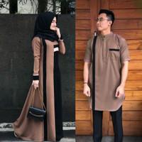 Baju couple milo/Fashion muslim lebaran/muslim family set/koko/gamis