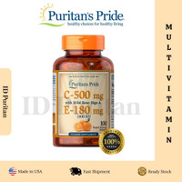 Puritan Pride Vitamin C & E 500 mg/400 IU with Rose Hips 100 Softgels