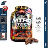 Muscletech Nitrotech Whey Gold 5,5 lbs Nitro tech 5,5lbs Whey Protein - Coklat